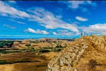 Te Mata Peak / Standing 399 metres above the Heretaunga Plains, Te Mata Peak is both a visual feature and an integral part of Hawke's Bay history, Maori and European. Enjoyed by over 200,000 people annually, the Park offers visitors stunning and varied scenery, unique topography, geology, flora and fauna and a wide range of recreational activities.
