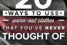 Repurposed Clothing Ideas / Find all kinds of ideas for repurposing clothing.