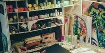 Art Studios & Craft Rooms / Inspirational art studios and craft rooms to give you ideas for creating your own little creative heaven!