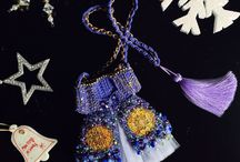 ATLAS BAGS / These awesome long necklaces and shoulder bags are all hand knitted and beaded with swarovski cristals by Pervin Şenel..