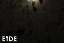 EIDE en la noche sobre Santiago