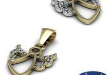 Wisiorki, zawieszki || Pendants / Złote wisiorki, platynowe zawieszki - z diamentami i bez || Golden pendants, platinium necklackes. #pendants