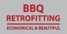 Custom BBQ Grills / We specialize in retrofitting a new BBQ in place of your old one, which often requires innovative solutions because most BBQ's have a different sized footprint. We can cut your island to fit or install one of our custom welded Grill Fit Trim Kit's in order to make the new grill fit.