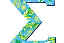 Greek Letter Decals for Sororities / by Wheatpaste Art Collective