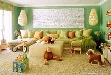 Family Friendly Decorating / Home Design inspiration for a family friendly environment with pops of color in social & play areas / by Letty's Lemondade Stand