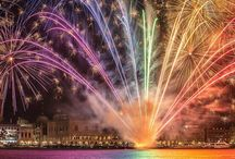 """New Year (""""Capodanno"""") in Italy / New Year's traditions in Italy: lucky lentils, coin-shaped sausages, pomegranate seeds, fizzy drinks and - naturally - fireworks."""