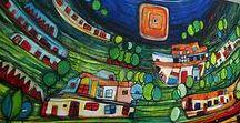moderne Malerei in Acryl Atelier mico / moderne Malerei, moderne Kunst, handgemalte Originale in Acryl auf Leinwand. Zu kaufen auf Ebay.