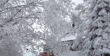 Winter / Schnee und Eis kommen oft unverhofft. Was romantisch aussieht, ist eine Herausforderung für das Haus. Tipps für den Winter.