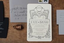 wedding invites/graphics / by kate wallace