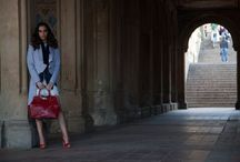 Behind the Scenes Photo Shoot in Central Park / Shooting with Morin-O bags for an editorial spread that's coming up soon in.... you'll have to stay tuned, its a surprise!