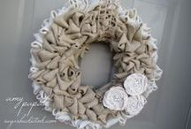 Burlap - All the Rage / Burlap is all the rage.  It's being used for just about everything - decorating, DIY crafts, pillows, wreaths - love it.  I recently helped a good friend decorate for her daughter's wedding and we used burlap in several ways in decorating for the reception.  Everything turned out so cute and the bride loved it.  I'm amazed at the patterns on the burlap and items you can buy made from burlap.  The burlap makers have got it goin' on! / by Sharon Dennison