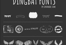 Fonts, etc.! / Fonts and decorative graphics for blogging or design