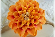 Dahlia Jewelry / I love Dahlias and here are some pretty photos and some of my products I made that emulate them.