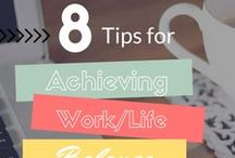 Work-Life Balance / Collection of tips for anyone attempting to juggle work, home, family, & more. Find helpful resources for meal planning, striking a balance between work-home-life, and recharging during downtime.
