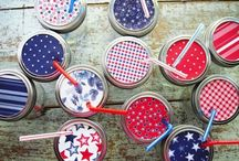 Color Crush: Red, White & Blue / we recommend that you get out there and celebrate the 4th of July with the best Patriotic DIYs & dishes!