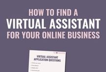 Virtual Assistant Tips / How to be a virtual assistant. How to hire a virtual assistant. Everything you need to know about virtual assistants.