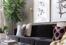 How to Hang Art / Art and interiors go oh-so very well together! But it's knowing how to incorporate a piece of art into your room that becomes a little tricky for some. We've pinned a few ideas to help inspire you and get you feeling more confident to decorate with art!