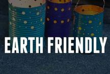 Earth Friendly Crafts / These earth friendly crafts are made from recycled materials - repurposing to help protect our planet! How will you go green with your craft ideas? These recycled crafts are great for Earth Day crafts or for any day of the year!