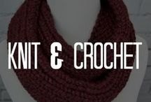 Knit & Crochet / Yarn obsessed? These knit & crochet ideas will give you inspiration for your knit projects or crochet projects. Browse our board and go yarn-crazy!