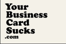 Your Business Card Sucks / A collection showing interesting, innovative, beautiful, clever, absurd, and just plain sucky business cards from around the web. To submit a card, visit http://www.yourbusinesscardsucks.com/submit
