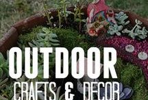 Outdoor Crafts & Decor / The great outdoors is calling your name! Looking for garden crafts? Crafts aren't just for inside - check out what you can make using our outdoor crafts & decor ideas.