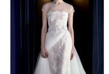 Detachable over-skirts / Wedding gowns that can be worn with or without the over-skirt. It is like having two dresses in one: more classic with the skirt for the ceremony, more sexy without the skirt for the party.