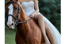 Riding Horse / Iris Noble bridal collection: gowns shot riding our beautiful horse.