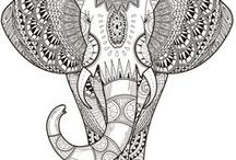 Coloring book for adults / Coloring books are no longer just for the kids. Coloring does offer a slew of mental benefits. Just like meditation, coloring allows us to switch off our brains from other thoughts and focus only on the moment, helping to alleviate free-floating anxiety. Use it when you just want to chill out.
