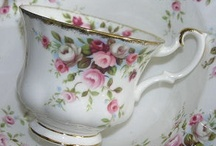 flower decorated vintage tableware / what's not to love about it!