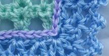 crochet and knitted borders and edgings