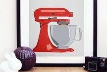 Kitchenaid addict ! / Comment résister à la célèbre marque Kitchenaid aux tons très colorés et au design très fifties ?  / by Mistergooddeal