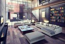 Esprit loft / L'esprit loft et le style industriel s'invitent dans votre intérieur. Métal et bois se partagent l'affiche en noir, bleu ou rouge. / by Mistergooddeal