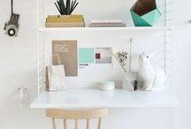 Mon coin bureau  / Rien de mieux qu'un nouveau coin bureau pour être au top cette rentrée !  On mise sur du taupe, blanc ou miel pour les couleurs et le bois ou teck qui allient esthétique et durabilité. / by Mistergooddeal