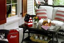 Porch Passion / Front, Back, Screened or Open ~ I love porches of all shapes and sizes. Whether it's decorated for a certain season or just cozy and secluded... in my book, you just can't be unhappy when you're sittin' on a porch!