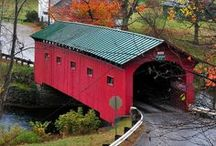 """Howdy Neighbor! (Vermont) / Vermont is a short hop across the border from my home in upstate NY. We're what you might call """"over the fence"""" neighbors. I was born in one of it's largest cities ~ Burlington. It hosts a plethora of historic sites, ski resorts, general/country stores, covered bridges, dairy farms & pure maple products, not to mention spectacular Fall foliage. It was and is home to many famous people, some still here and some long ago passed, but it's a place where once you've visited, you'll never forget it."""