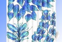 * Stunning Shower Curtains * / Find that special shower curtain that you have looking for to spruce up your bathroom!!  High quality, delightful and unique shower curtains with designs created by a variety of artists.  Shower curtains from Society 6, CafePress and CowCow where individual designers make shower curtains with their own artwork.