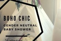 BOHO GENDER NEUTRAL BABY SHOWERS / Gender Neutral Baby Showers inspired by boho chic, tribal and organic styles.