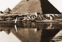 Ancient Egypt in old photo, graphics, paintings