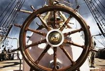 Sailboat warship