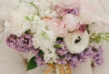 Floral displays / Pinks, lilacs, whites, soft, loose flower styling. Roses, sweet peas, lilacs, ranunculus, peonies, pansies, forget me knots, lily of the valley... / by Kat at Secretsofabutterfly