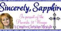 !_Sincerely Sapphire Blog Posts / Christianity, planning, journaling, bullet journaling, crafts, Bible prophecy.  In a nutshell:  the Proverbs 31 lifestyle