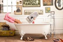 Bath inspired / unique bathroom decor / by Mythopoeia