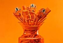 Orange - Tangerine - Glowing / Orange: associated with amusement, the unconventional, extroverts, activity, danger, taste and aroma :-)