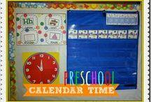 Pre-k ~ Calendar time