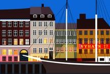 "illustrated Copenhagen ""An Icon a Day"" / by Sivellink"