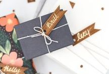 Wrap it up / Fun and creative ways to wrap gifts.  / by Carrie // cue the confetti
