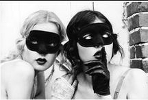 Masked / A mask is an object normally worn on the face, typically for protection, disguise, performance or entertainment. Masks have been used since antiquity for both ceremonial and practical purposes. They are usually worn on the face... (Wikipedia)