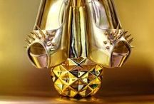 """Aurum - Gold - Or / Gold in Art... and elsewhere... """"In its purest form, it is a bright, slightly reddish yellow, dense, soft, malleable and ductile metal"""" (Wikipedia)"""