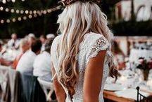 bridal hair & makeup / Striking, classic, boho, natural and modern makeup looks and wedding hairstyles.