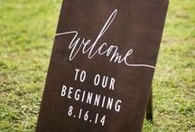 wedding signage / Show your guests where to go in the nicest way possible..